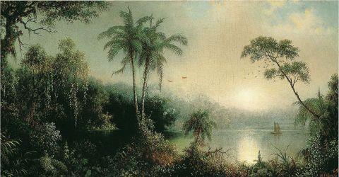+ Martin_Johnson_Heade_-_Sunrise_in_Nicaragua